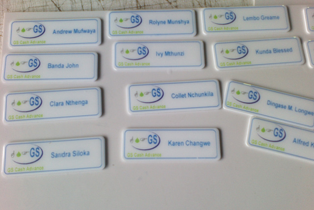 Mazabuka Times name tags